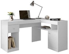 Mesa para Computador Londres C02 Branco Fosco - ADJ DECOR