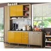 Cozinha Modulada Sicilia Argila Amarelo 04 Modulos Multimoveis
