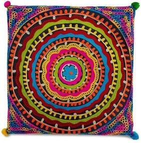 Almofada Indiana Mandala Colorida