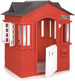 Casinha Cottage Little Tikes Vermelha, branca, preta