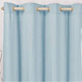 Cortina Blackout Corta Luz PVC com Voil Azul Bebê 2,80 x 1,70 para Varão Simples 2,00 Metros