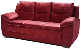 Sofá Com Fibra No Encosto Apogeu 3 Lugares Tecido Suede Vinho - Umaflex
