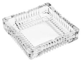 Cinzeiro Vidro Sodo-Cálcico Listras 17,5x17,5cm 35266 Bon Gourmet