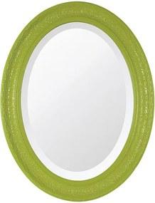 Espelho Oval Bisotê Verde Retrô Grande