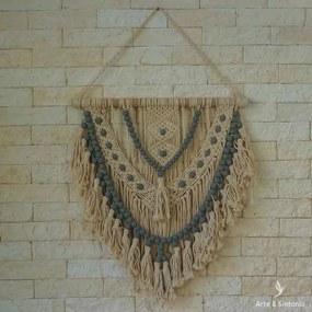 Macramê Hanging Wall Azul 70cm