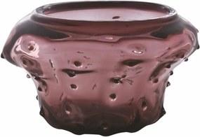 Vaso em Murano Roxo Modelado Artesanalmente
