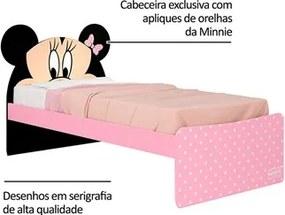 Cama Infantil Minnie Disney Plus Rosa/Preto - Pura Magia