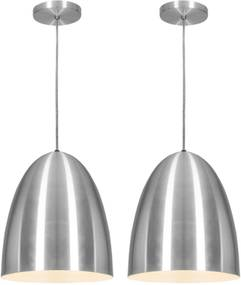 Pendente Taça Modern Aço Escovado Kit com 2 CASAH