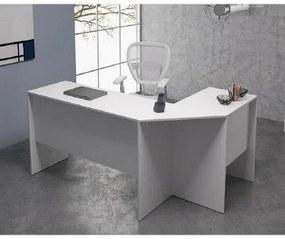 Mesa Para Computador escritório Em L Bho 08 - Branco