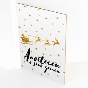 Placa Decorativa Prolab Gift Edição Natal Anoiteceu Branco 15x21cm