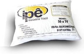 Travesseiro Fibra Siliconizada Ipê 700gr B801 Branco - Têxtil Ipê