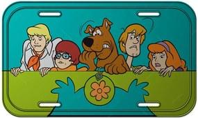 Placa de Parede HB Scooby Everybody Scared em Metal - Urban - 30x15 cm