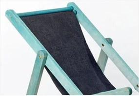 Cadeirão Dobrável com Braços Tecido Preto 11078.91 OPI Azul - Mão & Formão