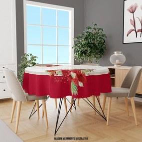Toalha de Mesa Redonda Para 4 Lugares Flor com Abstratos 1.45m Único