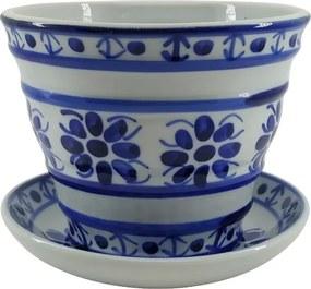 Vaso em Porcelana Azul Colonial 10 cm (com furo)