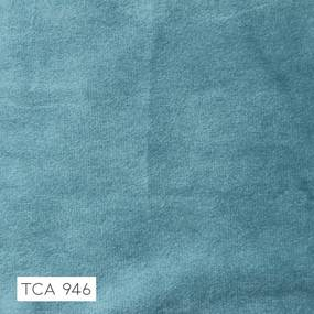 Poltrona Decorativa Base Madeira Sala de Estar Maya Veludo Azul Tiffany - Gran Belo