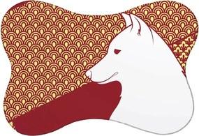 Tapete PET Mdecore Husky Bordô 46x33cm