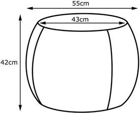 Puff Gran Belo Decor Cleo 55cm Corano Caramelo