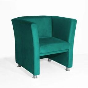 Poltrona Jade Suede Azul Tiffany Sala Recepção Consultório