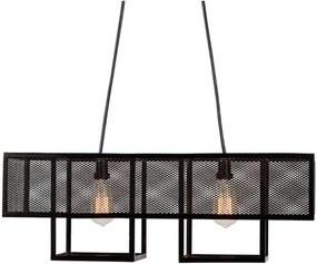 Luminaria Pendente Calisto Estrutura em Barra Chata de Ferro cor Preto 73cm (LARG) - 53561 Sun House