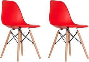 Conjunto 2 Cadeiras Eames Vermelha Dsw - Concept