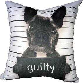 Almofada Frenchie Bulldog Guilty 40x40cm Cosi Dimora
