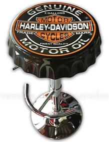 Banqueta Giratória Tampa De Garrafa Harley Davidson Motor Oil