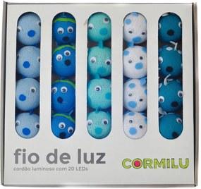 Luminária Decorativa Fundo do Mar - Pilha Cormilu Azul