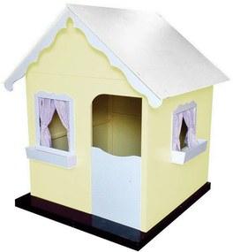 Casinha de Brinquedo Infantil Amarelo/Branco - Criança Feliz