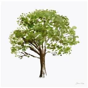 Quadro Decorativo Figurativo Arvores da Vida Corticeira Verde e Branco - CZ 44115