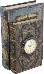 Caixa Livro Duplo com Relógio
