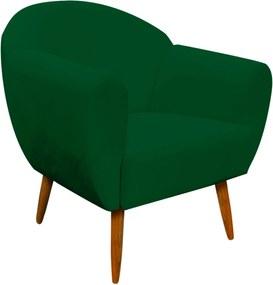 Poltrona Decorativa Sofia Suede Verde - D'Rossi