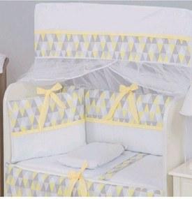 Kit Para Mini Berço I9 Baby 8 Peças 100% AlgodÁo Doçura Amarelo