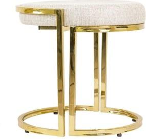 Banqueta em Metal Gold Sartori -