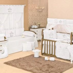 Quarto Para Bebê Sem Cama Babá Padroeira Baby Princesa Luxo - Branco