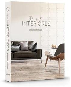 Livro Caixa Design De Interiores Ambientes Modernos - 30 X 24 X 4 cm  30 X 24 X 4 cm
