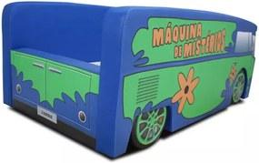 Cama Cama Carro Infantil Kombi Mistério Azul