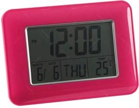 Relógio Despertador Slot Pink com Medidor de Temperatura e Base Fixa