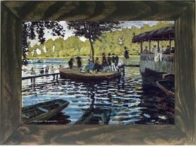 Quadro Decorativo A4 The Grenouillère - Claude Monet Cosi Dimora