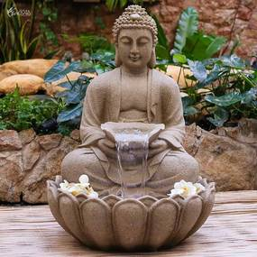 Fonte Decorativa Buda Pó de Pedra