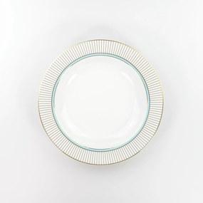 Conjunto de Pratos Fundos Porcelana Schmidt 06 Peças- Dec. Audrey