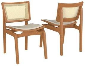 Conjunto 2 Cadeiras de Jantar Blad - Wood Prime VM 34568