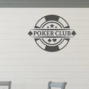 Adesivo Decorativo - Poker Club - Medidas 0,76X0,59M (Clube De Poker)