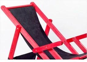 Cadeirão Dobrável com Braços Tecido Preto 11078.91 OPI Vermelho - Mão & Formão