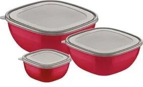 Jogo Bowls Tramontina Mix Color Vermelho 3 peças