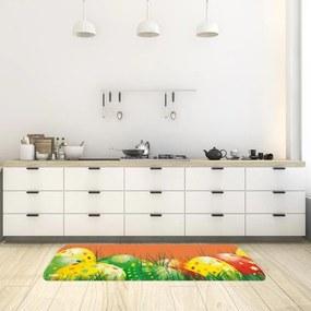 Tapete de Cozinha Páscoa Ovos Laranja40x120cm