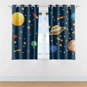 Cortina Infantil para Quarto Sistema Solar 2,80m x 1,40m