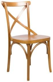 Cadeira de Jantar X Espanha Sem Braço Amêndoa Fosco - Wood Prime TT 38166