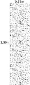 Papel De Parede Adesivo Enjoy (0,58m x 2,50m)