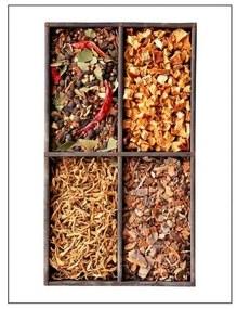 Quadro Decorativo Condimentos - KF 46406 40x60 (Moldura 520)